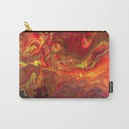 Acrylic Pour #45 Lava-Love Carry-All Pouch