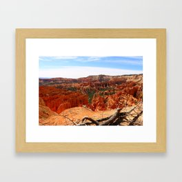 Sunset Point At  Bryce Canyon Framed Art Print