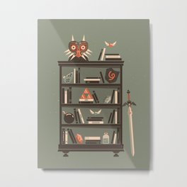 Zelda Shelf // Miyamoto Metal Print