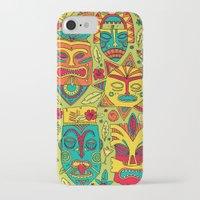 tiki iPhone & iPod Cases featuring Tiki tiki by Binnyboo
