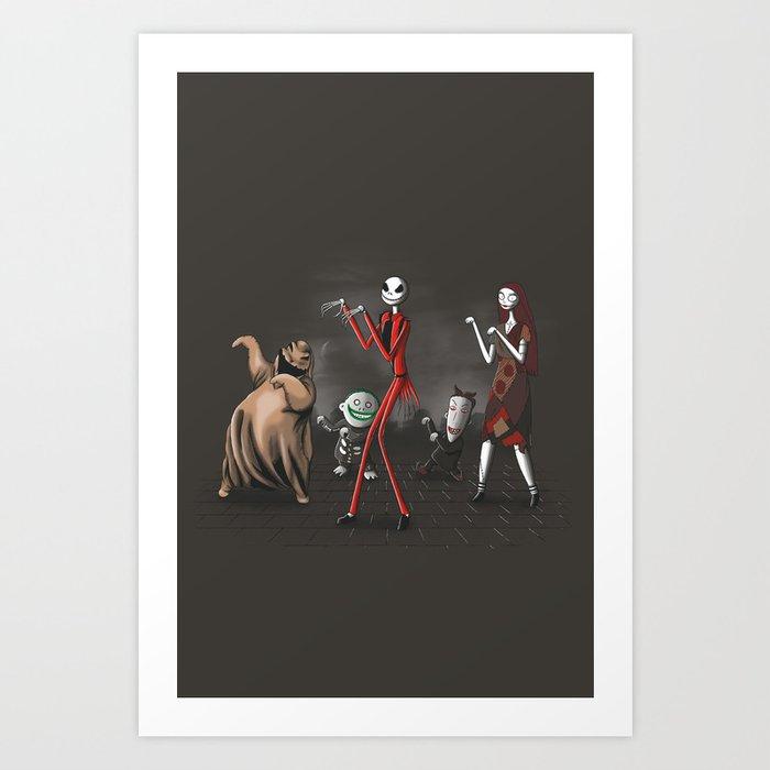 Thriller before Christmas Art Print