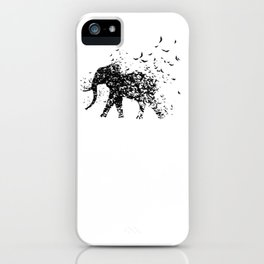 Save the Elephants fading away iPhone Case