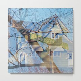 The Corner of Harrison and Quincy Metal Print