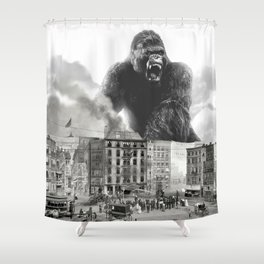 King Kong and the 1904 Fire Department Shower Curtain