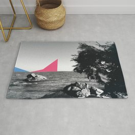 Cannes at the sea Rug
