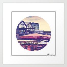 BERLIN brasserie Art Print