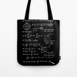 The answer to life, univers, and everything. Tote Bag