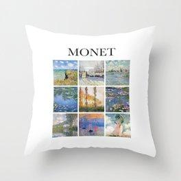 Monet - Collage Throw Pillow
