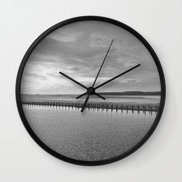 Weston-super-Mare black and white Wall Clock