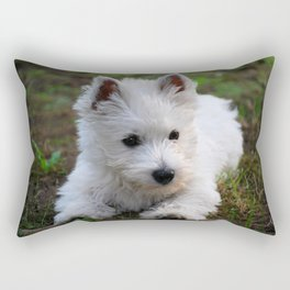 Westie puppy Rectangular Pillow