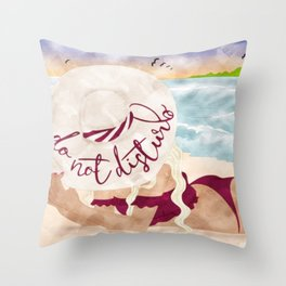 Do Not Disturb Beach Girl Throw Pillow