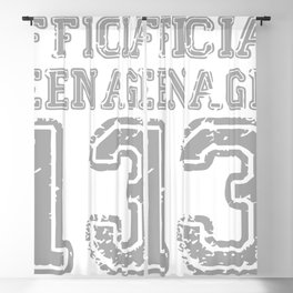 Official Teenager 13th Birthday Blackout Curtain