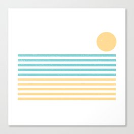 Sunset Lines Canvas Print