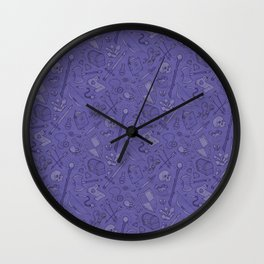 Inventory in Purple Wall Clock