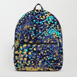 Abstract Mixed Media Series Sea Urchins 18 Backpack