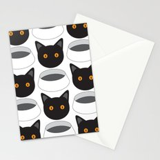 Cat Face & Bowl Stationery Cards