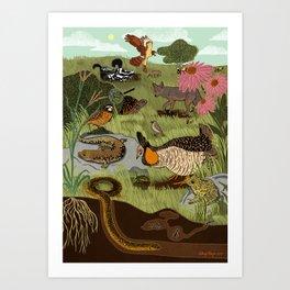 Ecosystem: Prairie Art Print