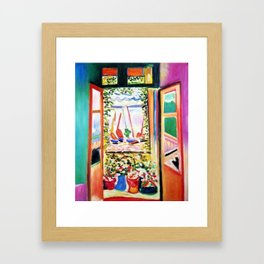 The Open Window Coastal - Floral and Maritime Collioure oil painting by Henri Matisse oil paint Framed Art Print