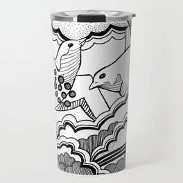 Swallows in the clouds Travel Mug