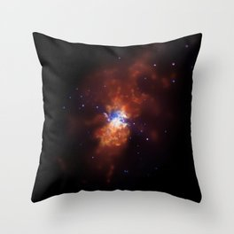 1870. Chandra Images Torrent of Star Formation: A starburst galaxy located about 12 million light years from Earth Throw Pillow