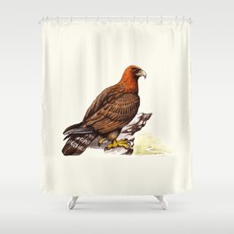 Watercolor Golden Eagle Shower Curtain