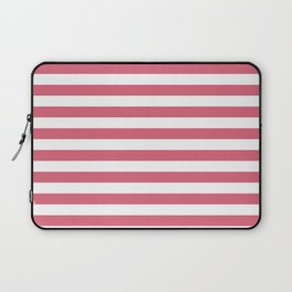Large Nantucket Red Horizontal Sailor StripesLarge Nantucket Red Horizontal Sailor Stripes Laptop Sleeve