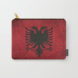 Old and Worn Distressed Vintage Flag of Albania Carry-All Pouch