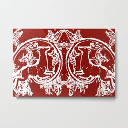 Asheville Stags a Leaping Metal Print