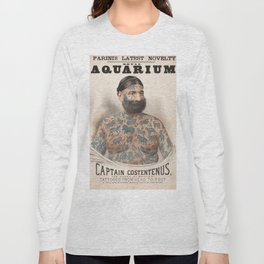 Vintage Tattoo Print of Captain Costentenus Long Sleeve T-shirt