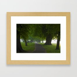 Beddington path in summer Framed Art Print