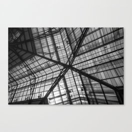 Liverpool Street Station Glass Ceiling Abstract Canvas Print