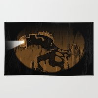 oil Area & Throw Rugs featuring oil monster by ErDavid