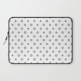 Playstation Controller Pattern (Black on White) Laptop Sleeve
