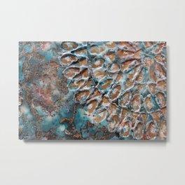Turquoise peace Metal Print