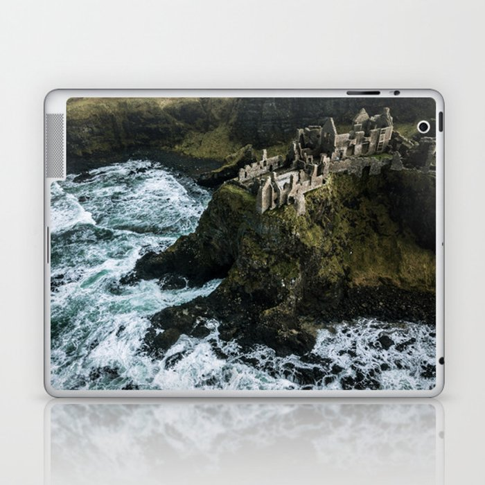 Castle ruin by the irish sea - Landscape Photography Laptop & iPad Skin