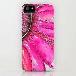 Gerber Daisy Watercolor Print iPhone Case