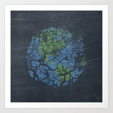worn out world Art Print