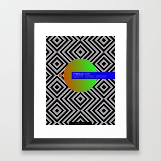 Impossible Symmetry - Circle Framed Art Print
