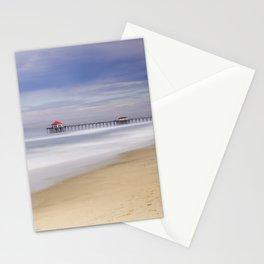 Huntington Beach Pier Monsoon Morning    8-13-20  Stationery Cards
