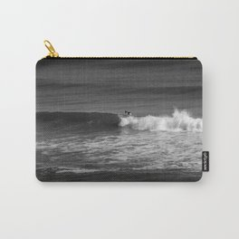 Surfer in Black and White Carry-All Pouch