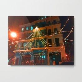 Blue House Christmas Light, Wan Chai, Hong Kong Metal Print