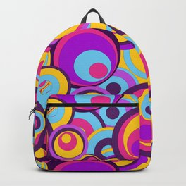 Retro Circles Groovy Colors Backpack