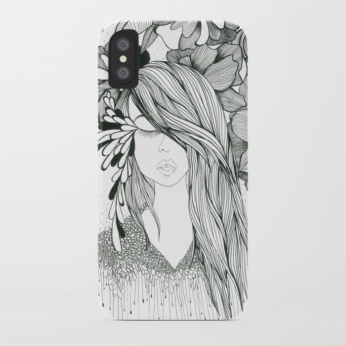 Girl with Flowers iPhone Case