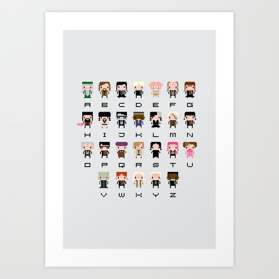 Harry Potter Alphabet Art Print