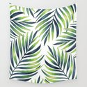Tropical leaves. White pattern by artcolours