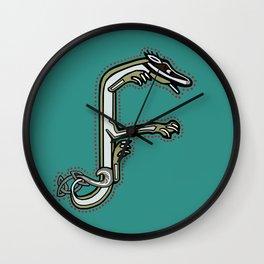 Celtic Medieval Badger Letter F 2019 Wall Clock