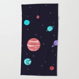Bright night sky Beach Towel