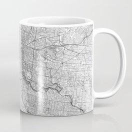 Melbourne Map Line Coffee Mug