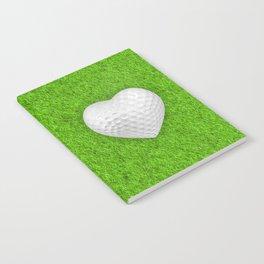 Golf ball heart / 3D render of heart shaped golf ball Notebook