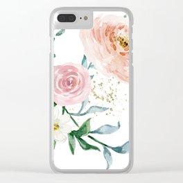 Rose Arrangement No. 1 Clear iPhone Case